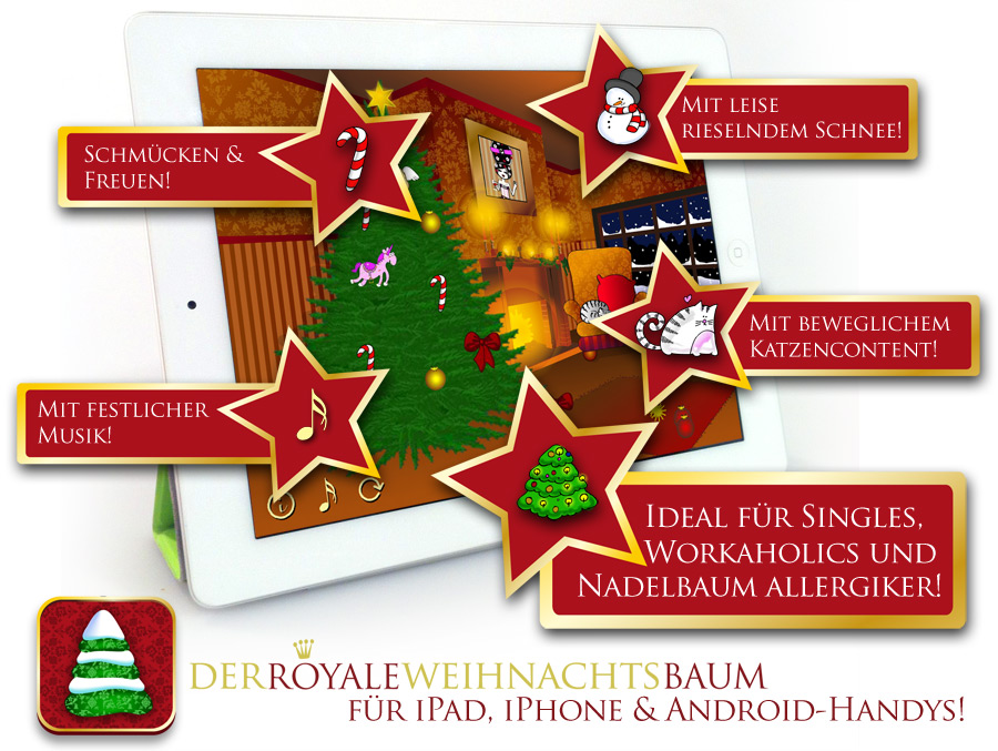 Royal Christmas Tree for iPad, iPhone, Android