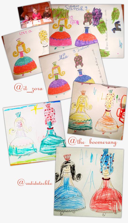 Prinzessinen gezeichnet